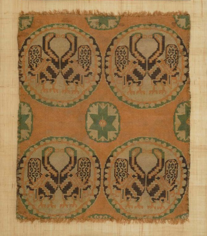 BZ.1936.50, Confronted Peacocks in Roundels Textile