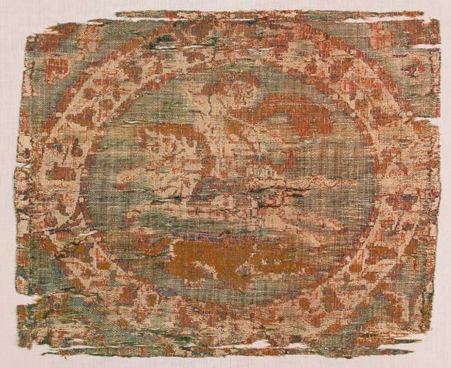 BZ.1937.29, Mounted Archer and Lion Textile