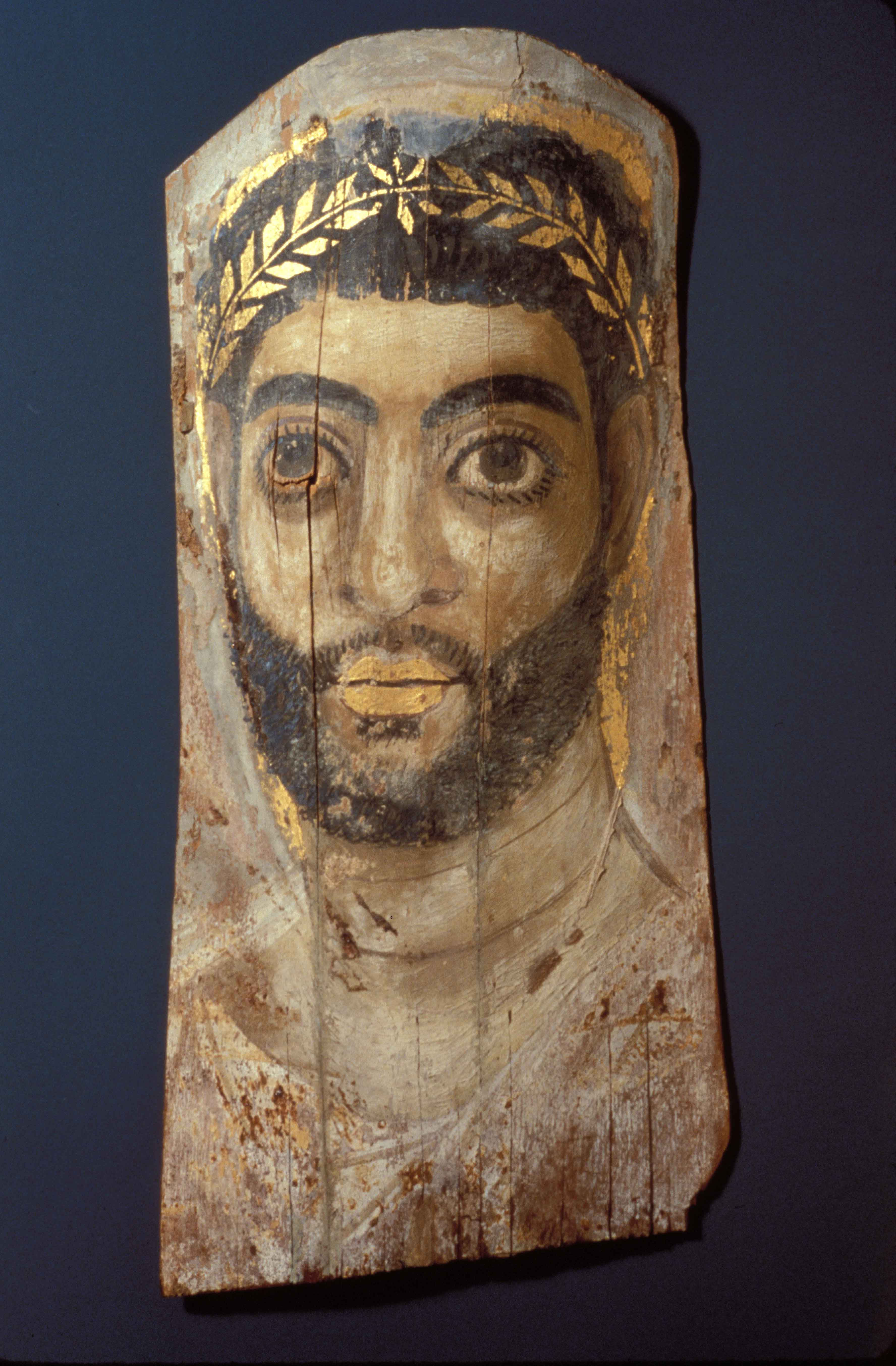 BZ.1937.32, Funerary Portrait of a Bearded Man for a Mummy