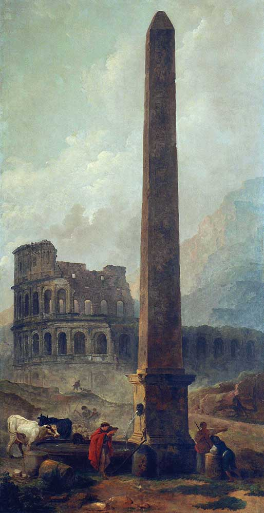 HC.P.1922.03.(O), Coliseum and the Lateran Obelisk