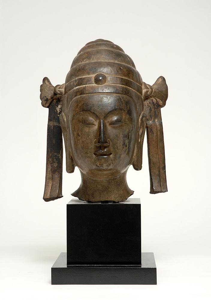 HC.S.1925.005.(S), Head of a Pratyeka Buddha