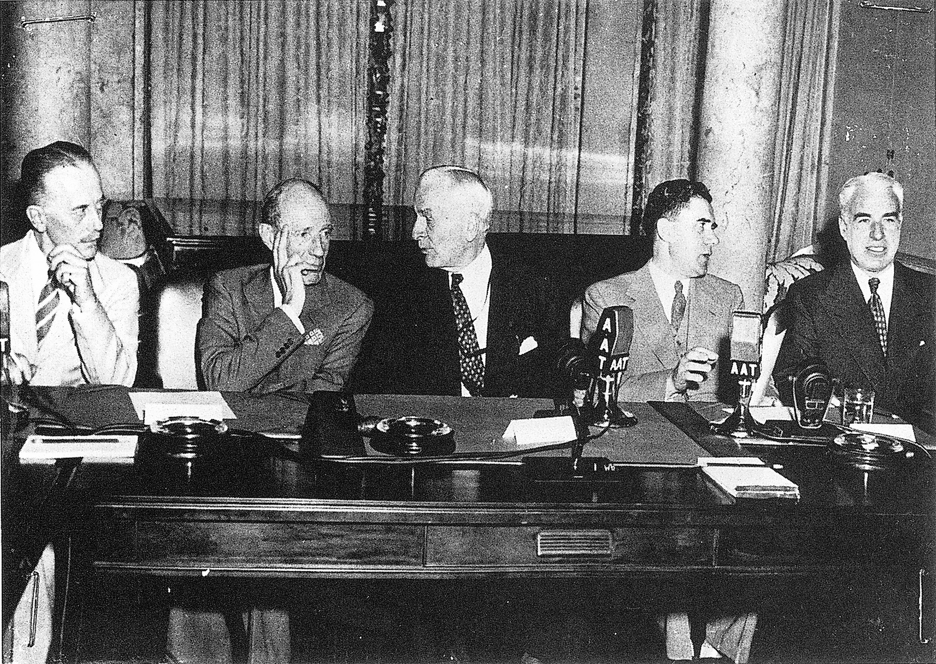 Delegation leaders at the opening session of the Dumbarton Oaks Conversations, 21 August 1944