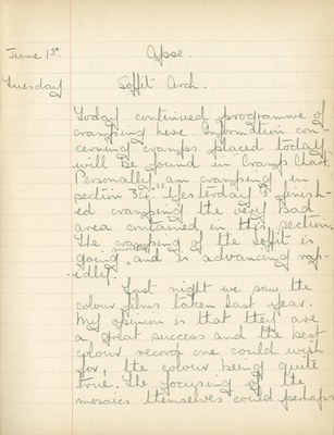 William John Gregory: Notebook Entry for June 1, 1937