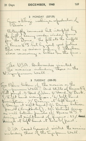 Ernest Hawkins (?): Notebook Entry for December 2 - 3, 1940