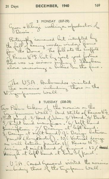 Ernest Hawkins (?): Notebook Entry for December 2 - 3, 1940