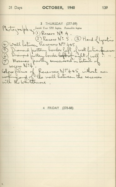 Ernest Hawkins (?): Notebook Entry for October 3, 1940