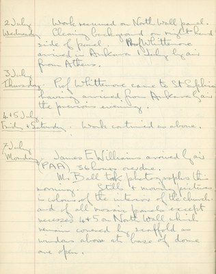 Ernest Hawkins: Notebook Entry for July 2 - 7, 1947