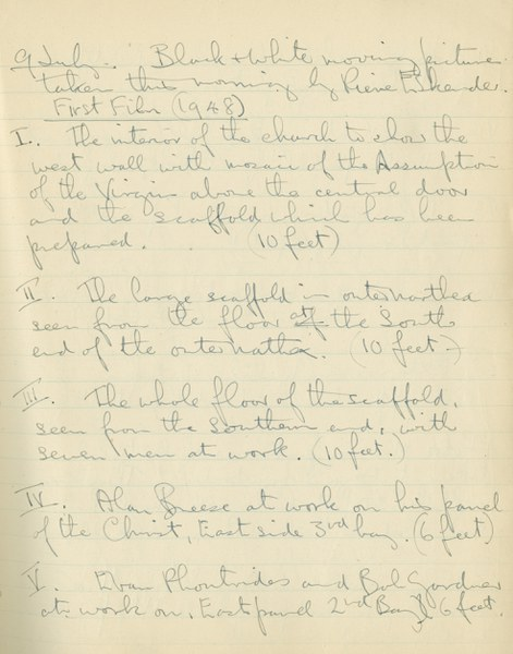 Ernest Hawkins: Notebook Entry for July 9, 1948