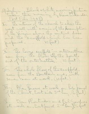 Ernest Hawkins: Notebook Entry for July 9, 1948