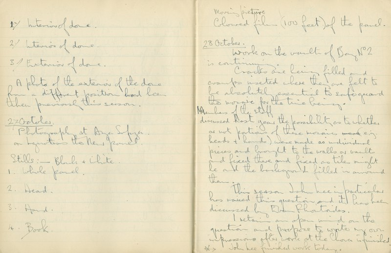 Ernest Hawkins: Notebook Entry for October 27, 1948