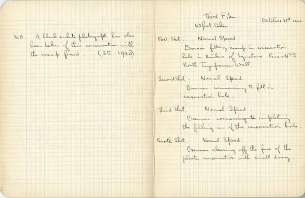 Ernest Hawkins: Notebook Entry for October 11, 1940