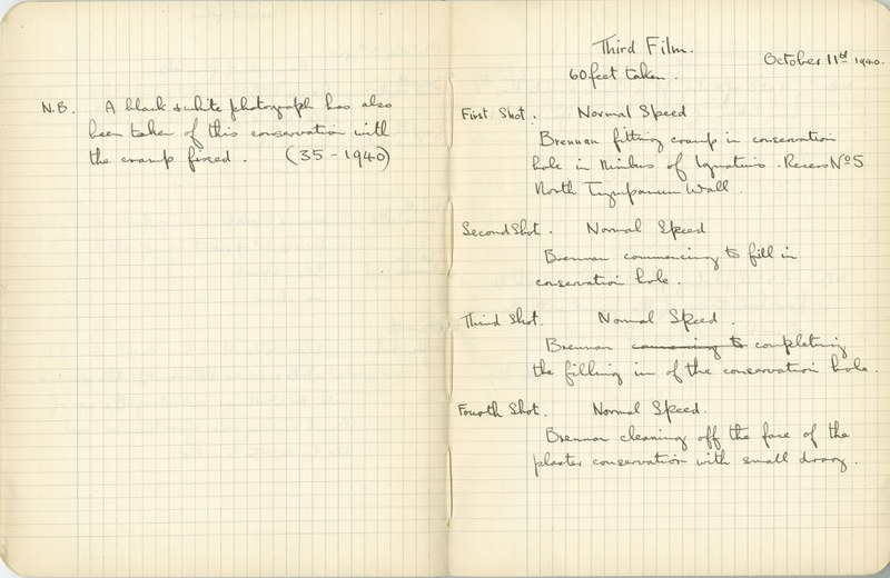 Ernest Hawkins: Notebook Entry for October 11, 1940