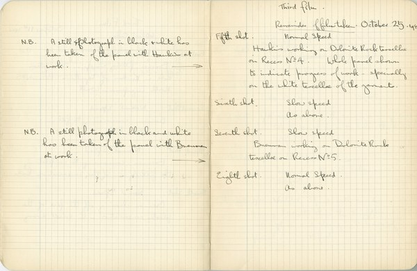 Ernest Hawkins: Notebook Entry for October 25, 1940