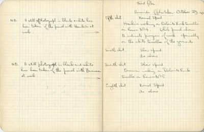 Ernest Hawkins: Notebook Entry for October 25, 1940