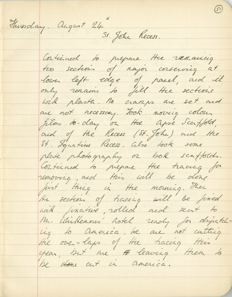 Richard A. Gregory: Notebook Entry for August 24, 1939