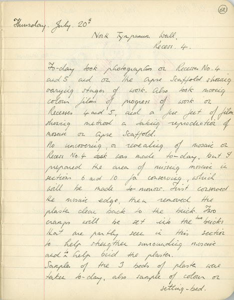 Richard A. Gregory: Notebook Entry for July 20, 1939