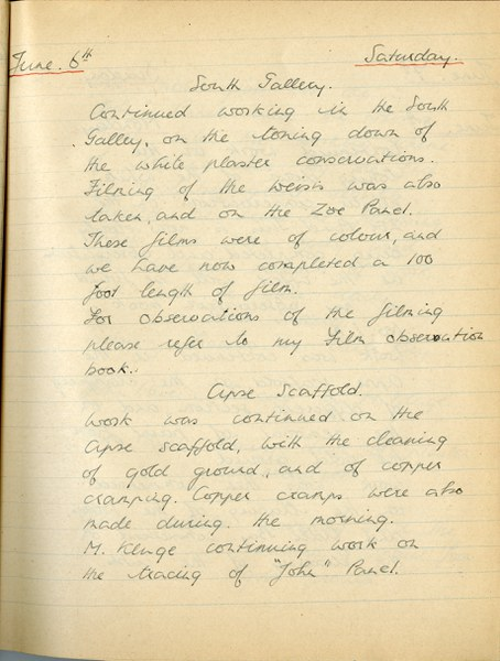 Richard A. Gregory: Notebook Entry for June 6, 1936