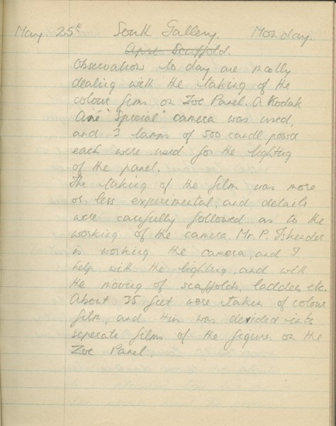 Richard A. Gregory: Notebook Entry for May 25, 1936