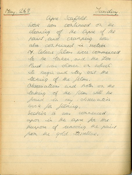 Richard A. Gregory: Notebook Entry for May 26, 1936