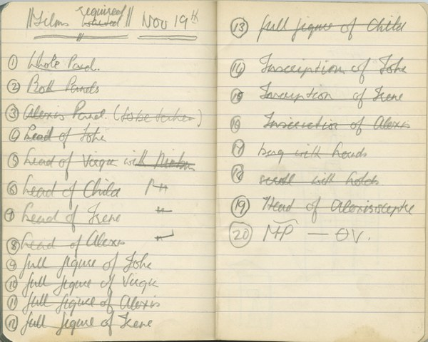 Richard A. Gregory: Notebook Entry for November 19, 1936