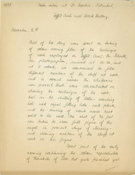 Richard A. Gregory: Notebook Entry for November 2, 1937