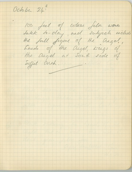 Richard A. Gregory: Notebook Entry for October 24, 1938