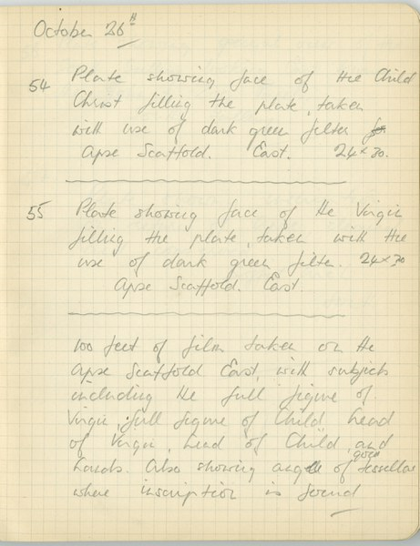 Richard A. Gregory: Notebook Entry for October 26, 1938