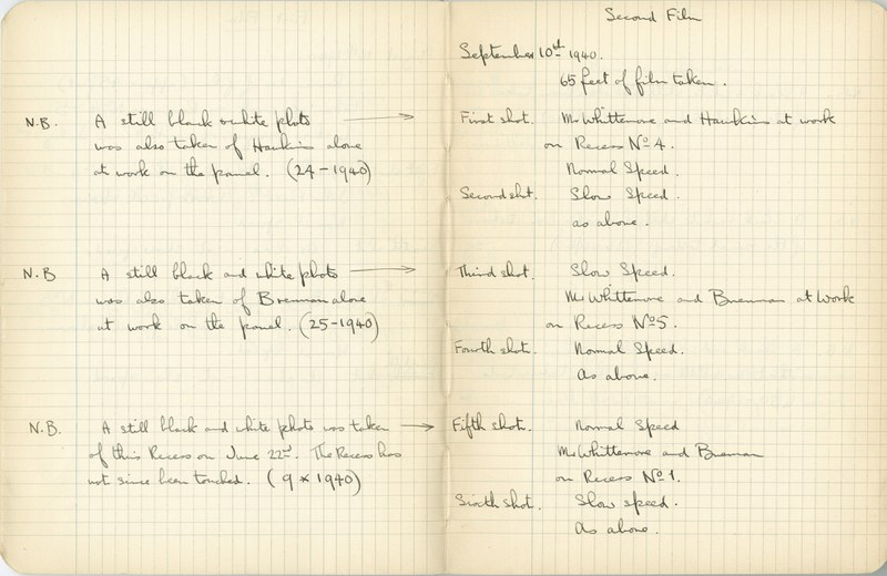 Ernest Hawkins: Notebook Entry for September 10, 1940