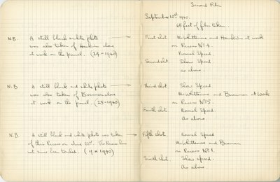 Ernest Hawkins: Notebook Entry for September 10, 1940