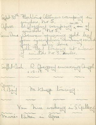 William John Gregory: Notebook Entry for September 30, 1937
