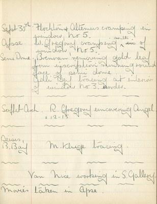 William John Gregory: Notebook Entry for September 30, 1937