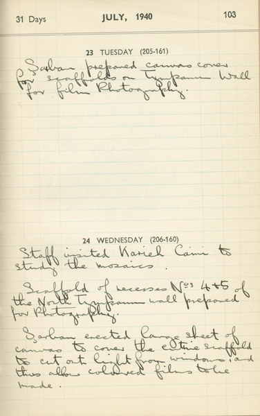 Ernest Hawkins (?): Notebook Entry for July 23 - 24, 1940