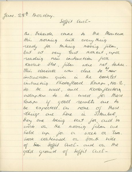 Richard A. Gregory: Notebook Entry for June 28, 1937