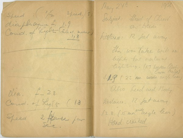 Richard A. Gregory: Notebook Entry for May 27, 1936