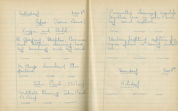 William John Gregory: Notebook Entry for November 7, 1936