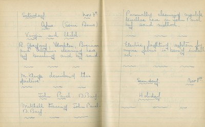 William John Gregory: Notebook Entry for November 7, 1936