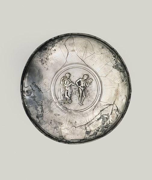 Plate with Hippolytos and Phaidra