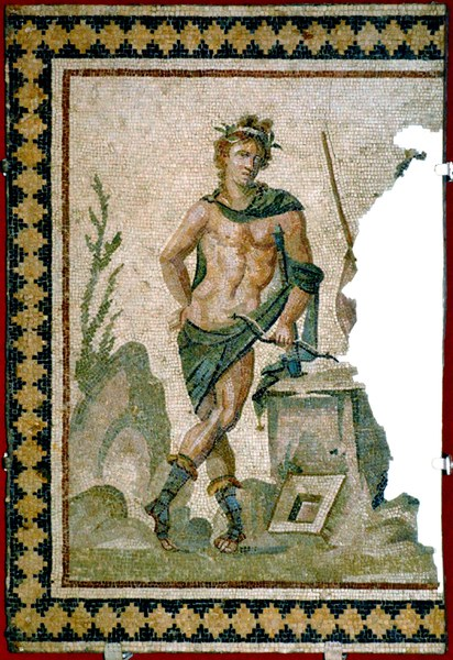Mosaic with Apollo