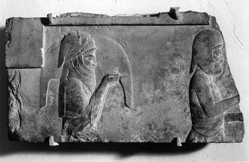 Two Tribute Bearers or Servants with Offerings