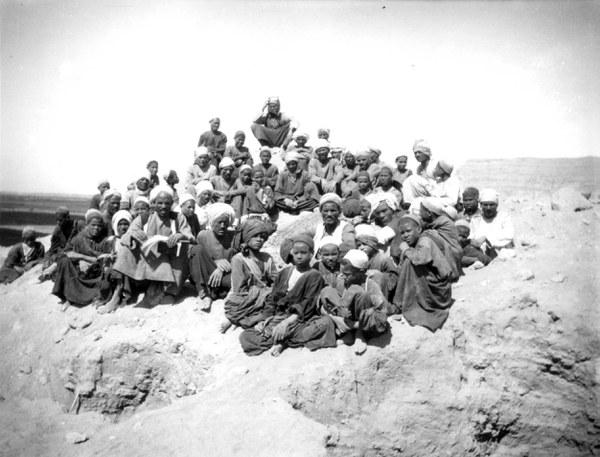 Workmen and children