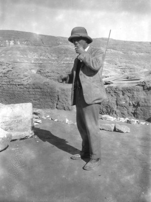 Francis G. Newton (1878-1924), field director of Amarna excavations during 1923-1924 season