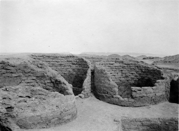 House of the chariotry-officer Ranefer, the granaries, looking east