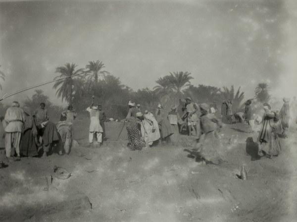 Local workmen and children at work