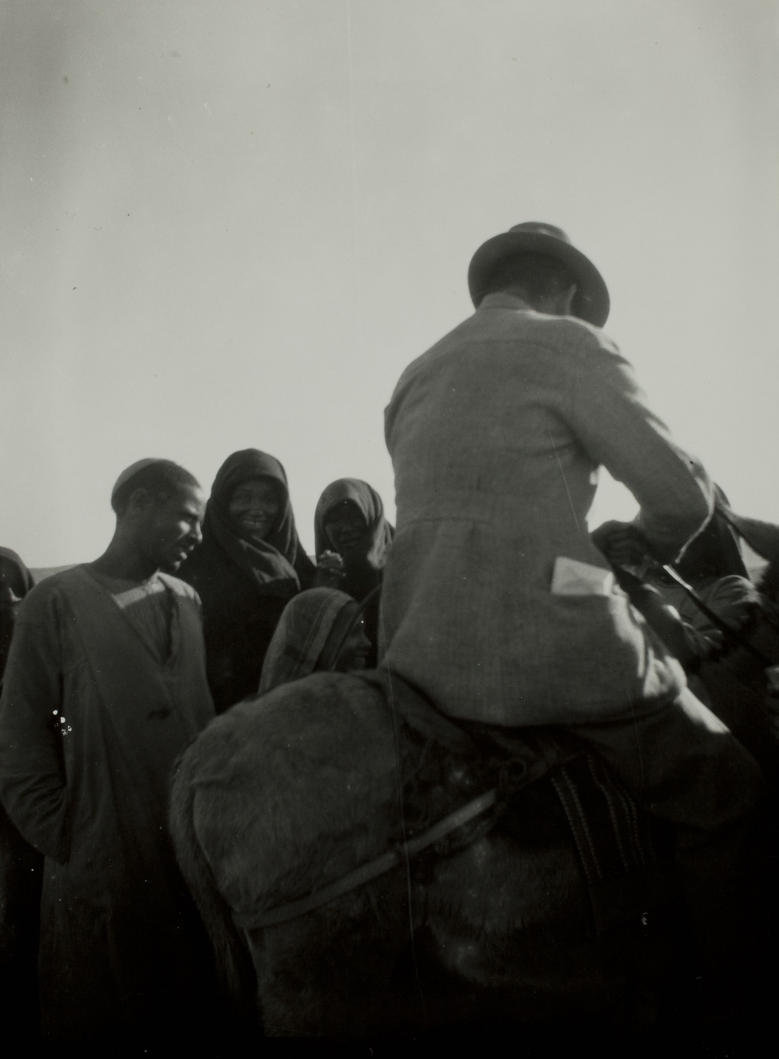 Thomas Whittemore on a camel in Egypt