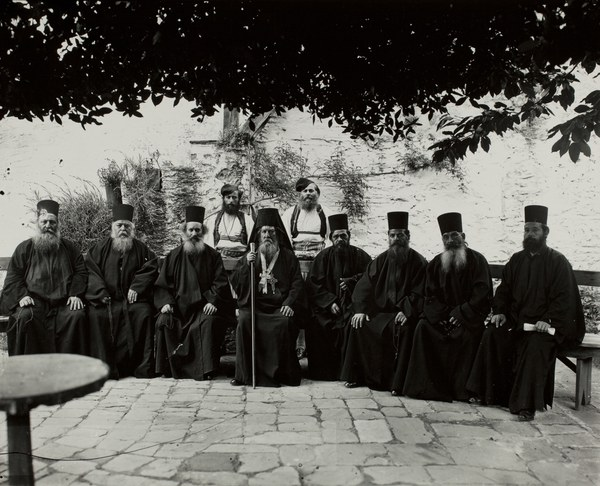 Group portrait with Protos and the monastic government