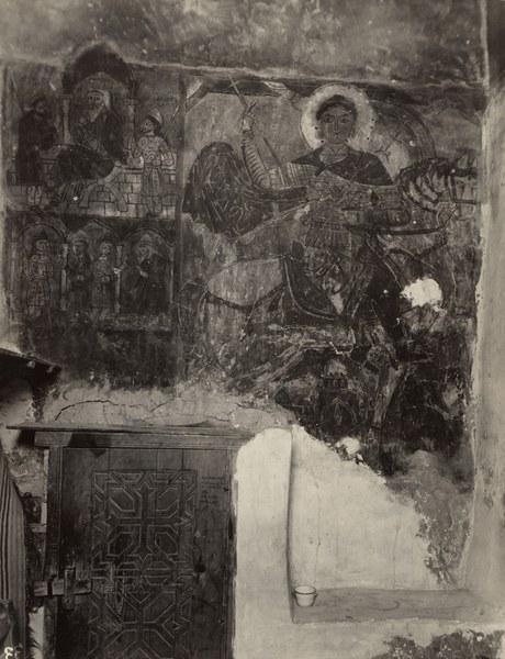 Church of Saint Anthony, Khurus, North wall, Saint George