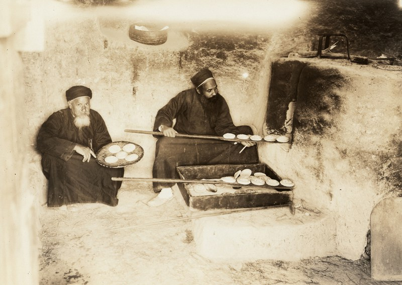 Monks baking the Holy Bread