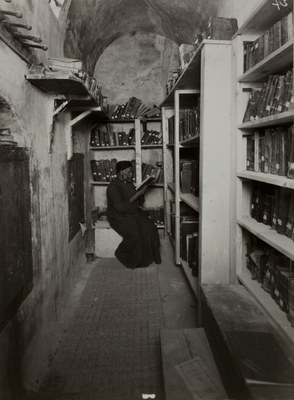 The Abbot in the library