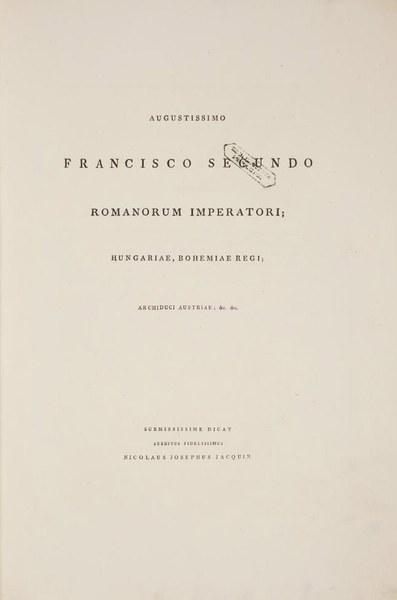 Plantarum rariorum horti caesarei Schoenbrunnensis descriptiones et icones