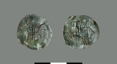Aspron trachy of Michael II and John III Vatatzes (1246-1254)